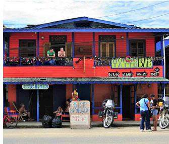 Hostel Heike på huvudgatan i Bocas del Toro, Panama